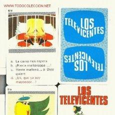 Barajas de cartas: LOS TELEVICENTES - JUEGO INFANTIL DE CUARTETOS- NAIPES COMAS - 31+4 NAIPES REGLAS JUEGO. Lote 2682581