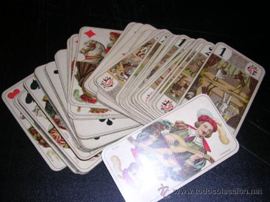 BARAJA DE TAROT COMPLETA - FRANCESA 1890 - DIBUJOS CON ESTILO DE UN TAROT GERMANO ( ANTIGUA ) (Juguetes y Juegos - Cartas y Naipes - Barajas Tarot)