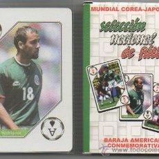 Barajas de cartas: MEX 208 BARAJA POKER SELECCION NACIONAL DE MEXICO FUTBOL RAFAEL MARQUEZ NAIPES MUNDIAL 2002. Lote 58264978