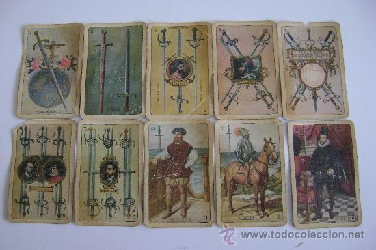 Barajas de cartas: BARAJA DE LA EXPOSICION IBEROAMERICANA DE SEVILLA Y BARCELONA.1929.40 CARTAS.COMPLETA - Foto 3 - 24212275