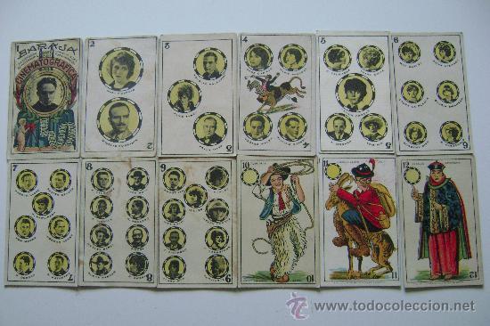 BARAJA CINEMATOGRAFICA COMPLETA 48 CARTAS (Juguetes y Juegos - Cartas y Naipes - Baraja Española)