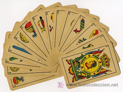 Barajas de cartas: BARAJA HERACLIO FOURNIER , MARCA TITI , PARA LA EXPORTACION, COMPLETA 40 NAIPES, - Foto 2 - 26907496
