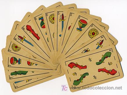 Barajas de cartas: BARAJA HERACLIO FOURNIER , MARCA TITI , PARA LA EXPORTACION, COMPLETA 40 NAIPES, - Foto 3 - 26907496