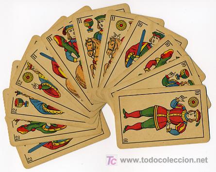 Barajas de cartas: BARAJA HERACLIO FOURNIER , MARCA TITI , PARA LA EXPORTACION, COMPLETA 40 NAIPES, - Foto 4 - 26907496