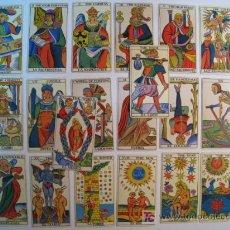 Barajas de cartas: LOTE 20 CARTAS TAROT ESPAÑOL (20 ARCANOS MAYORES). Lote 10716408