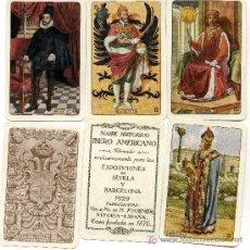Barajas de cartas: NAIPE HISTORICO IBERO AMERICANO EXCLUSIVO EXPOSICIONES SEVILLA Y BARCELONA 1929 HERACLIO FOURNIER. Lote 27405944