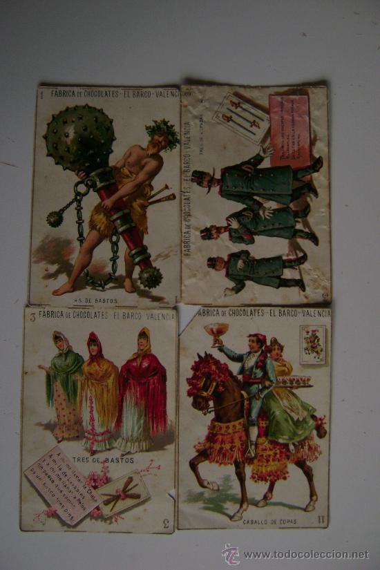 Barajas de cartas: BARAJA COMPLETA DE 48 CARTAS.LA GRANDE DE CHOCOLATES EL BARCO - Foto 5 - 16120212