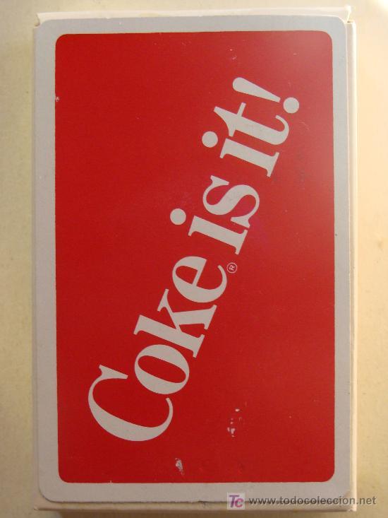 BARAJA DE CARTAS DE COCA COLA. AÑOS 70. COCA COLA LO ES¡. COCA COLA IS IT¡. PRECINTADA. (Juguetes y Juegos - Cartas y Naipes - Otras Barajas)