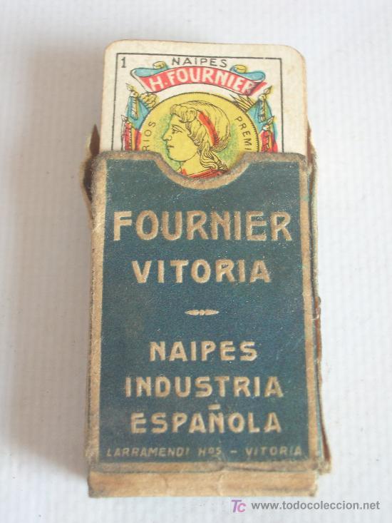 BARAJA MINIATURA FOURNIER, VITORIA. COMPLETA. 40 CARTAS. (Juguetes y Juegos - Cartas y Naipes - Baraja Española)