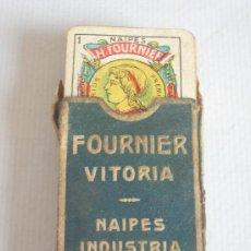 Barajas de cartas: BARAJA MINIATURA FOURNIER, VITORIA. COMPLETA. 40 CARTAS.. Lote 24053910