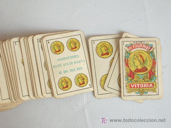 Barajas de cartas: Baraja miniatura Fournier, Vitoria. Completa. 40 cartas. - Foto 3 - 24053910