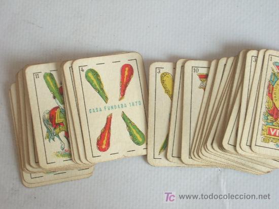 Barajas de cartas: Baraja miniatura Fournier, Vitoria. Completa. 40 cartas. - Foto 4 - 24053910