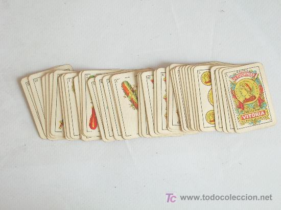 Barajas de cartas: Baraja miniatura Fournier, Vitoria. Completa. 40 cartas. - Foto 5 - 24053910
