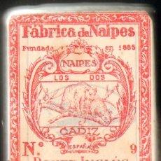 Barajas de cartas: BARAJA DE POKER INGLES. FABRICA DE NAIPES LOS DOS TIGRES. MARIA GONZALEZ RIZZO. CADIZ. Lote 11955599
