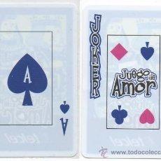 Barajas de cartas: BARAJA MEXICO DE CARTAS PUBLICITARIA DE TELCEL JUEGO DE AMOR DE TIPO POKER NAIPES. Lote 31847671