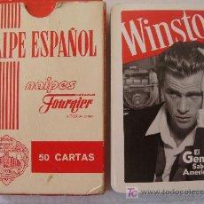 Jeux de cartes: BARAJA DE CARTAS DE ESPAÑOLA. FOURNIER. TABACO WINSTON. SABOR AMERICANO. 50 NAIPES. NO USADA. . Lote 12485851