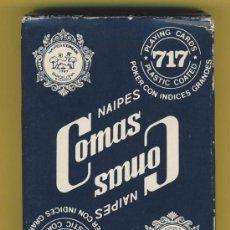 Barajas de cartas: NAIPE-NAIPES-BARAJA-PUBLICITARIAS-TAROT-NAIPE 717 POKER -COMAS -CON INDICES. Lote 20612897