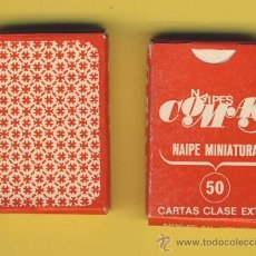 Barajas de cartas: NAIPE-NAIPES-BARAJA-PUBLICITARIAS-TAROT-NAIPE MINIATURA -COMAS -50 NAIPES- 30 X 45 MM. Lote 20612905