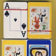 Barajas de cartas: NAIPES-CARTAS-PUBLICITARIAS- .-DIBUJOS ORIGINALES MIRO.AUSTRIA-MUSEO ARTE NEW YORK. Lote 21592070