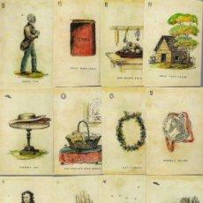 Barajas de cartas: BARAJA DE COLECCION DE LA CABAÑA DEL TIO TON DE EE UU SIGLO XIX 1825 COLECCION DE HACE UNOS AÑOS. Lote 38678133
