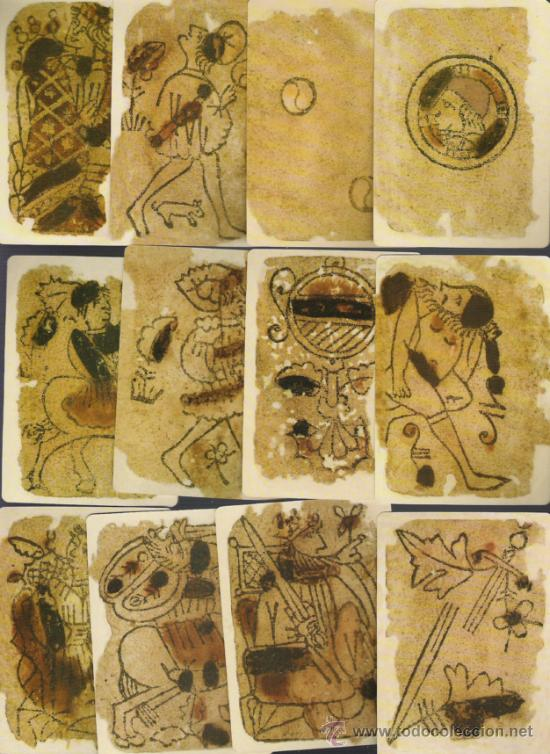 BARAJA DE COLECCION ITALIANA A LA MORISCA DATA DEL SIGLO XIV 1390 COLECCION DE HACE UNOS AÑOS (Juguetes y Juegos - Cartas y Naipes - Otras Barajas)