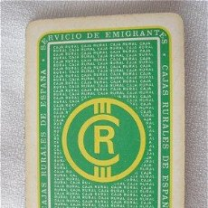 Barajas de cartas: BARAJA FOURNIER CAJA RURAL. Lote 26917366