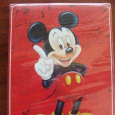 Barajas de cartas: VENDIDA BARAJA INFANTIL. MICKEY MOUSE. TAMAÑO GIGANTESCO. MICKEY FONDO ROJO. PERFECTA. . Lote 13183912