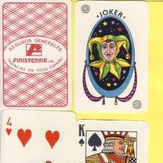 Barajas de cartas: NAIPES.BARAJA. .MOMPRE-PUBLICIDAD-SEGUROS AEGON MOD Nº1 POKER- 51-NAIPES. Lote 20564334