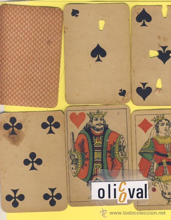 NAIPE-.BARAJA.-SIMEON DURA -1888- -52 NAIPES--POKER-ESPECIAL CASINOS INUTILIZADA VER FOTOGRAFIAS (Juguetes y Juegos - Cartas y Naipes - Barajas de Póker)