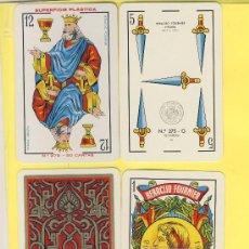 Barajas de cartas: NAIPES.BARAJA. NAIPES HERACLIO FOURNIER Nº275-G- DORSO ORIGINAL 50 NAIPES - TIMBRE 3-IP.1964. Lote 20634219
