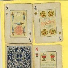 Barajas de cartas: NAIPES.BARAJA. NAIPES HERACLIO FOURNIER Nº 20 DORSO AZUL 50 NAIPES - TIMBRE 1-VS.1940-. Lote 20634221