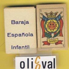 Barajas de cartas: NAIPES.BARAJA. INFANTILES.SIN EDITOR CONOCIDO.MEDIDAS 55 X35 MM 48 NAIPES.ENVASE ORIGINAL. Lote 21616712