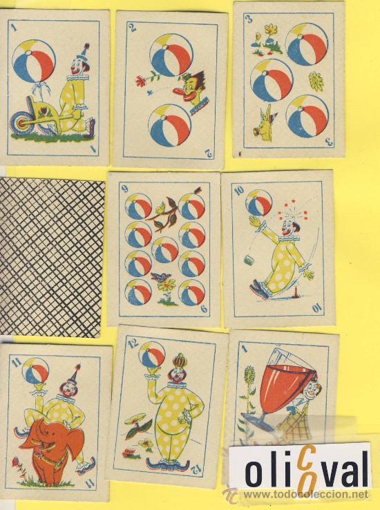NAIPES.BARAJA.INFANTILES-SIN IDENTIFICAR-ANTERIOR A 1980 MEDIDAS 52X40MM 48 NAIPES ENVASE NO ORIGNAL (Juguetes y Juegos - Cartas y Naipes - Barajas Infantiles)