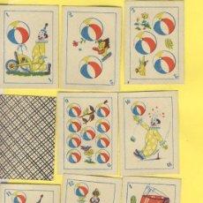 Barajas de cartas: NAIPES.BARAJA.INFANTILES-SIN IDENTIFICAR-ANTERIOR A 1980 MEDIDAS 52X40MM 48 NAIPES ENVASE NO ORIGNAL. Lote 21616722
