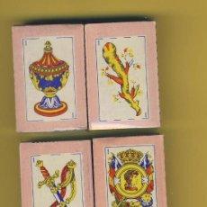 Barajas de cartas: NAIPE-BARAJA. INFANTILES- AÑOS 60 MEDIDAS 54X36MM 48NAIPES 4 ENVASE ORIGNAL DIFERENTES. Lote 14811223