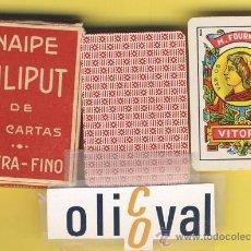Barajas de cartas: NAIPE.BARAJA.INFANTILES-VIAJE- HERACLIO FOURNIER-LILIPUT-ENVASE ORIG-R ILUSTRACION -1962- 40 NAIPES. Lote 20517472