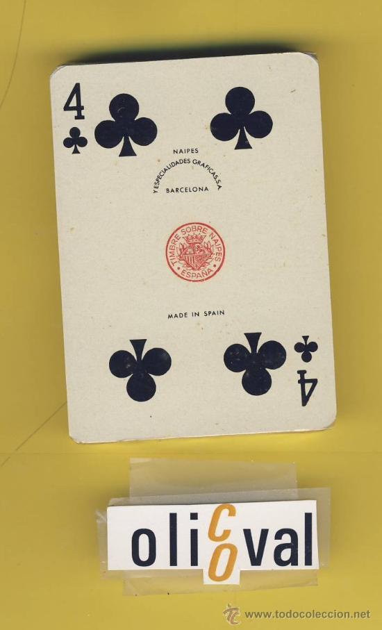 NAIPE.BARAJA.I-VIAJE-COMAS TIMBRE-9-ED-1964 ENVASE ORIGINAL - POKER - 48 NAIPES S/DESPRECINTAR (Juguetes y Juegos - Cartas y Naipes - Barajas Infantiles)