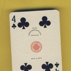 Barajas de cartas: NAIPE.BARAJA.I-VIAJE-COMAS TIMBRE-9-ED-1964 ENVASE ORIGINAL - POKER - 48 NAIPES S/DESPRECINTAR. Lote 20517476