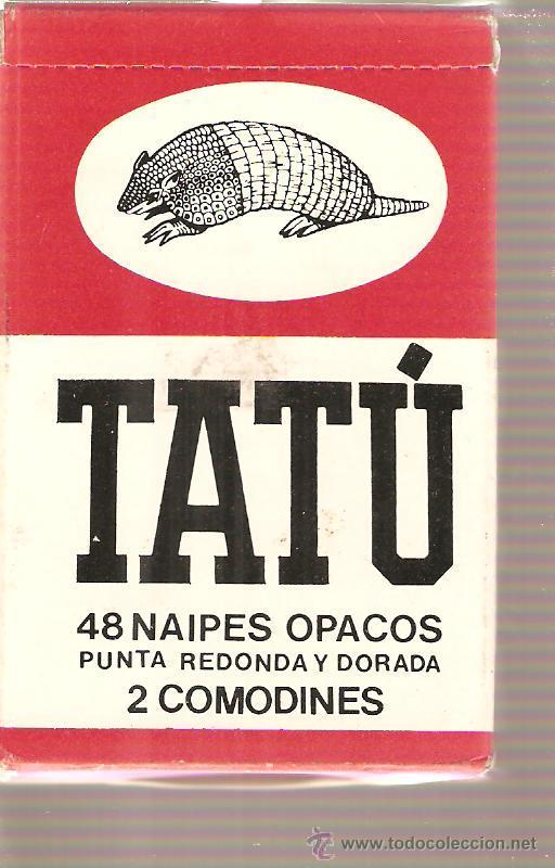 BARAJA NAIPES CARTAS - TATU - NAIPES OPACOS CON PUNTA REDONDA Y DORADA (Juguetes - Barajas de Cartas - Otras Barajas)