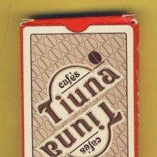 Barajas de cartas: NAIPE.BARAJA. NAIPES COMAS- PUBLICIDAD CAFES TIUNA-40 NAIPES-ESPAÑOLES-ENVASE ORIGINAL ROJO. Lote 20549375