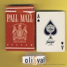Barajas de cartas: NAIPE.BARAJA.HERACLIO FOURNIER PUBLIDAD -PALL MALL- 55 NAIPES-POKER-ENVASE ESPECIAL ORIGINAL. Lote 21616714