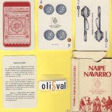 Barajas de cartas: NAIPE.BARAJA. I.G.NAVARRA-CAJA NAVARRA - 42NAIPE ESPAÑO-MUY BIEN DATADA.DIBUJOS ORIGINALES M.SINUES. Lote 14880332