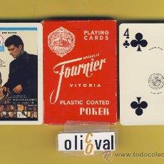 Barajas de cartas: NAIPE.BARAJA. HERACLIO FOURNIER-PUBLICIDAD CINE-LA BODA DEL SEÑOR CURA- 54 NAIPE POKER . Lote 14702748
