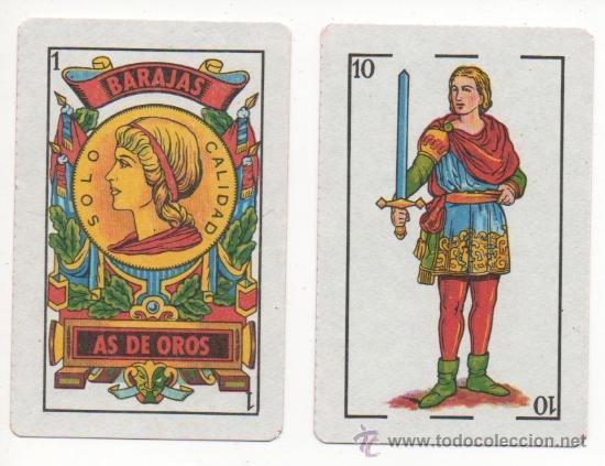 1.42 BARAJA DE CARTAS AS DE OROS DE TIPO ESPAÑOL NAIPES (Juguetes y Juegos - Cartas y Naipes - Baraja Española)