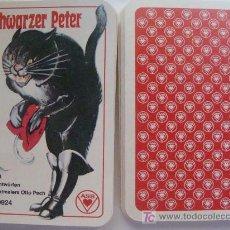 Barajas de cartas: BARAJA DE CARTAS DE ALEMANIA. GATO NEGRO CON BOTAS. BLACK PETER. OLD MAID. SCHWARZER PETER. . Lote 14745177