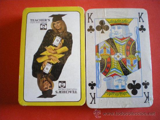 BARAJA DE POKER WHISKY TEACHER´S PRECINTADA AÑOS 80 (Juguetes y Juegos - Cartas y Naipes - Barajas de Póker)