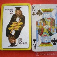 Barajas de cartas: BARAJA DE POKER WHISKY TEACHER´S PRECINTADA AÑOS 80. Lote 29643855