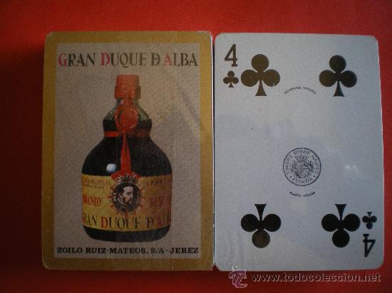 BARAJA DE POKER HERACLIO FOURNIER BRANDY GRAN DUQUE DE ALBA PRECINTADA AÑOS 80 (Juguetes y Juegos - Cartas y Naipes - Barajas de Póker)