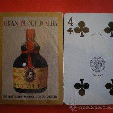 Barajas de cartas: BARAJA DE POKER HERACLIO FOURNIER BRANDY GRAN DUQUE DE ALBA PRECINTADA AÑOS 80. Lote 26704272