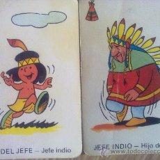 Barajas de cartas - 2 cartas naipes de la baraja Vikie, -Wickie-, El vikingo de ediciones recreativas (1975). indios - 23231062
